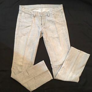 BCBG Maxzaria Grey Wash Skinny Jean sz 8 GUC 30x30
